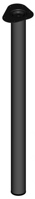 Mööblijalg Element System ümar must 900 mm ⌀ 60 mm