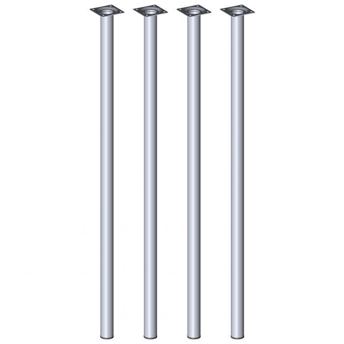 Mööblijalgade komplekt 4 tk Element System ümar kroom 800 mm ⌀ 30 mm