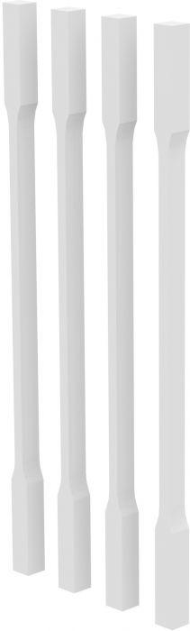 Trepisarja Helsinki piirdelipid, valged 41 x 41 x 1030 mm