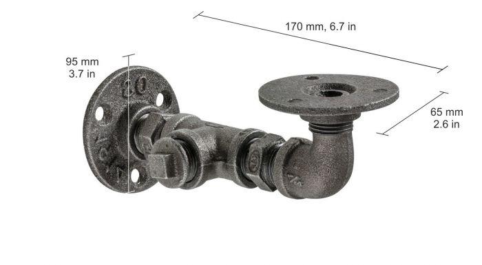 Riiulikandur Cast malm 170 x 60 x 95 mm