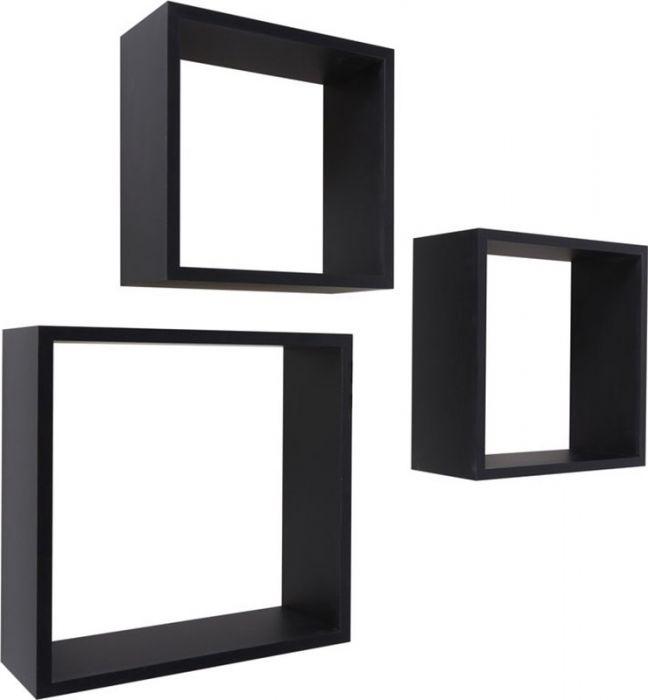 Seinariiulite komplekt Frame must 3 tk