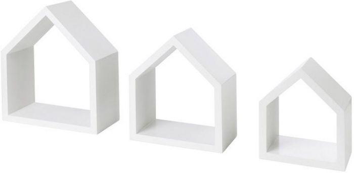 Seinariiulite komplekt Cottage valge 3 tk