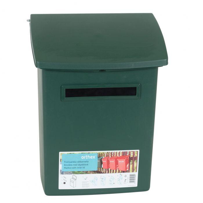 Postkast Orthex vahekaanega Roheline