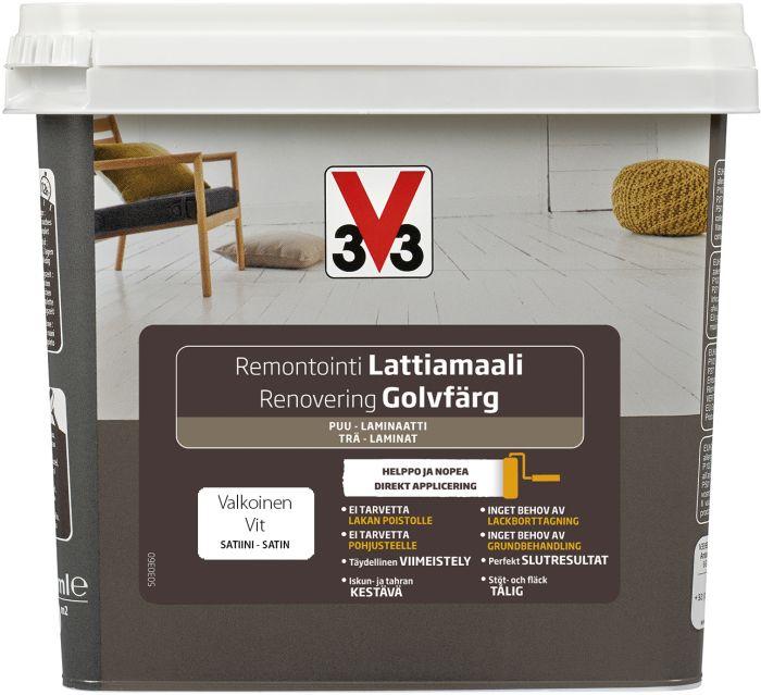 Puitpõrandavärv V33 Valge 750 ml