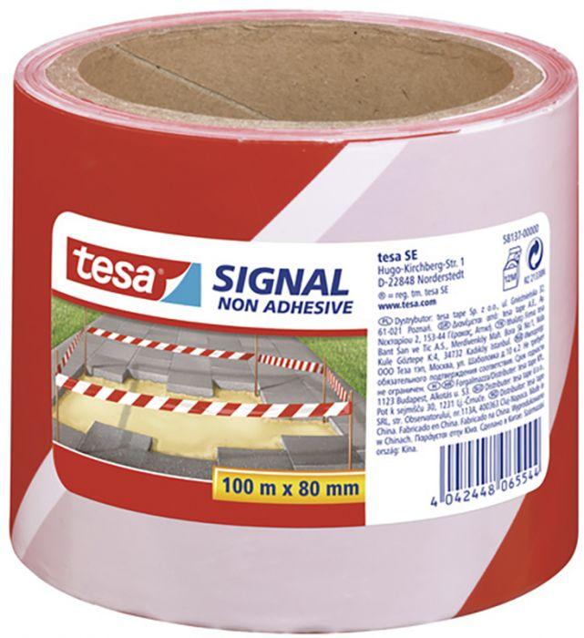 Ohulint  punane/ valge 100 m x 80 mm