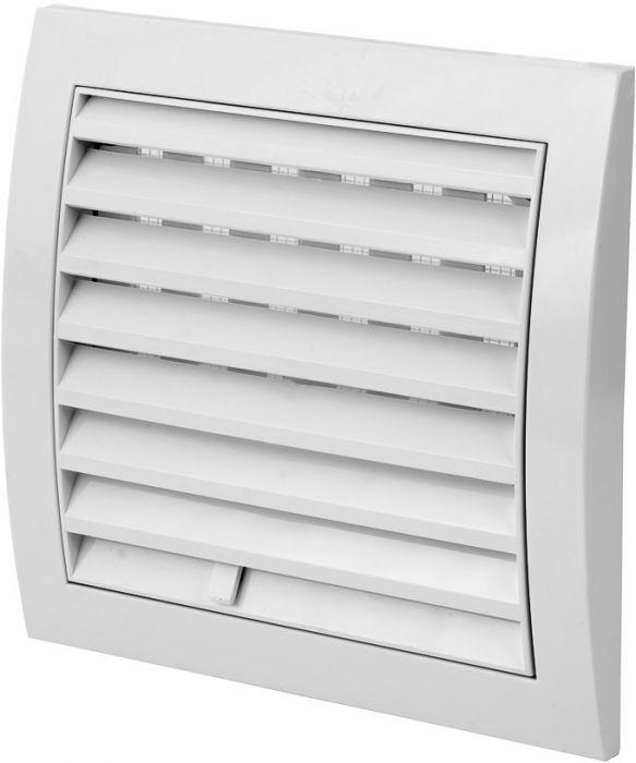 Ventilatsioonirest Europlast valge 150 x 150 mm reguleeritav