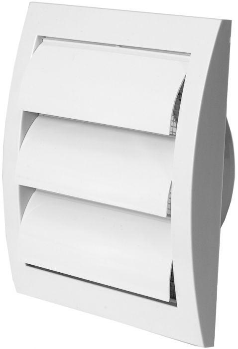 Ventilatsioonirest Europlast valge 150 x 150 mm labadega