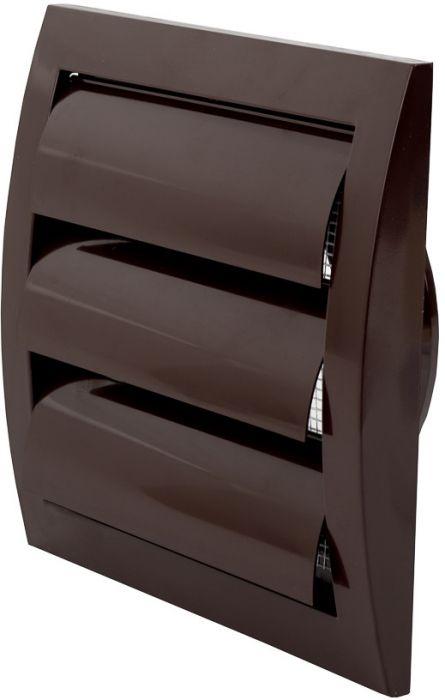 Ventilatsioonirest Europlast pruun 150 x 150 mm labadega