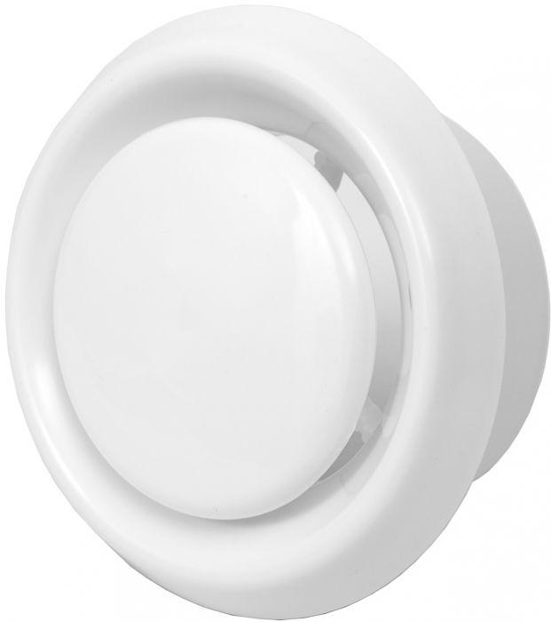 Ventilatsiooniluuk Europlast valge ⌀ 125 mm