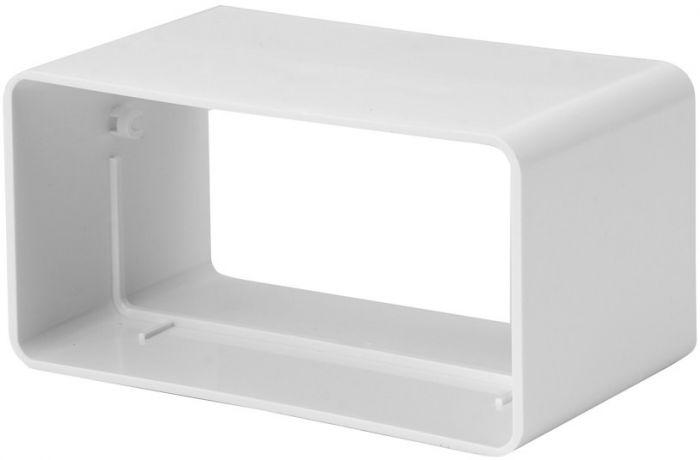 Ventilatsioonikanali ühendus Europlast valge 110 x 55 mm