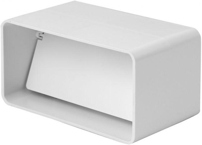 Ventilatsiooniluuk Europlast valge 110 x 55 mm