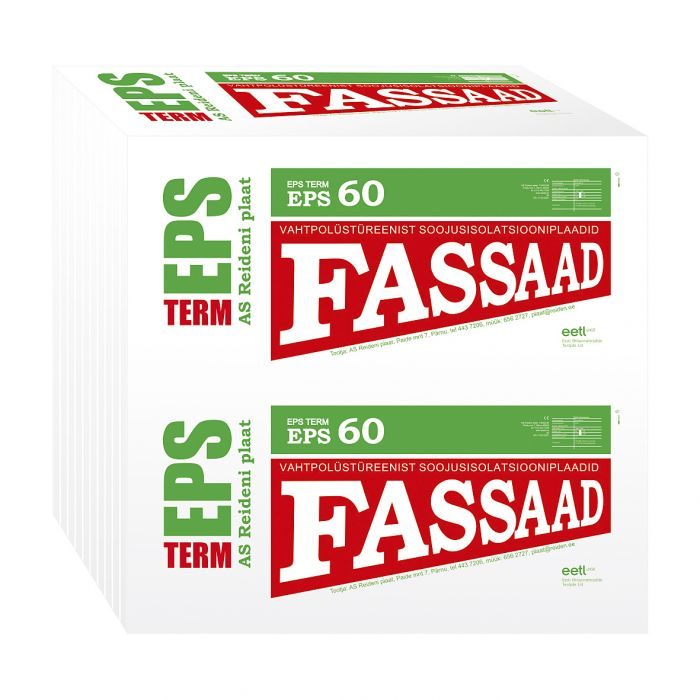 Soojustusplaat EPS 60 Fassaad, 100 mm
