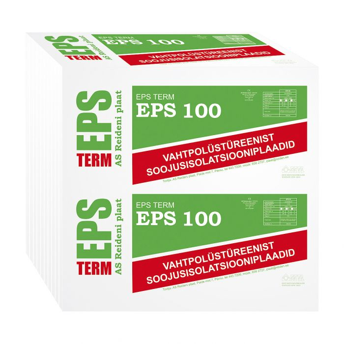 Soojustusplaat EPS 100, 100 mm