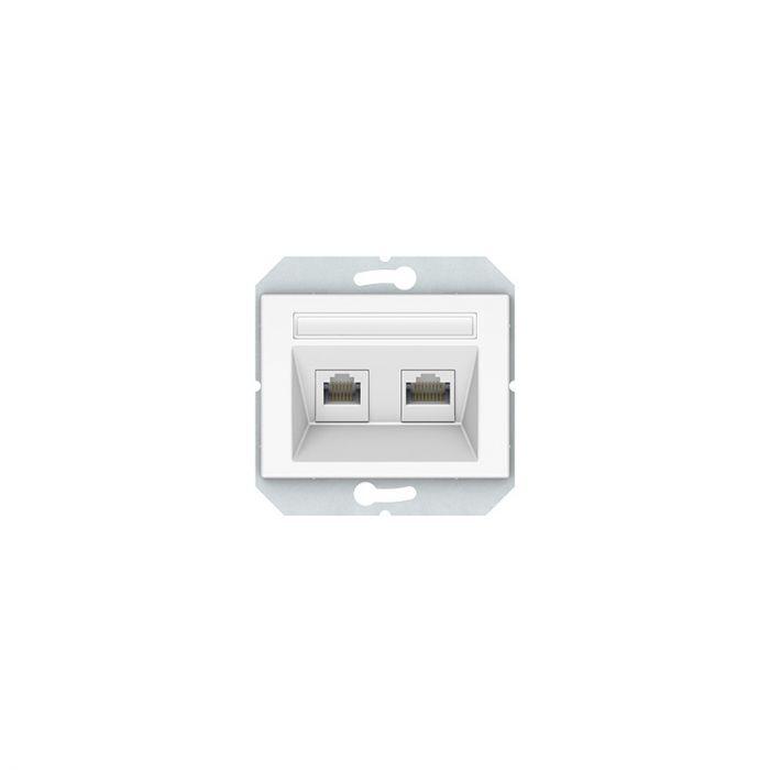Arvuti- ja telefoni pesa XP Vilma valge