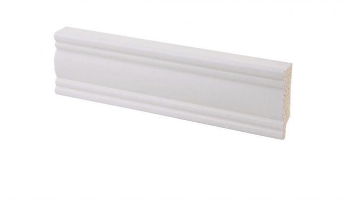 Põrandaliist mänd valge 12 x 42 x 3300 mm