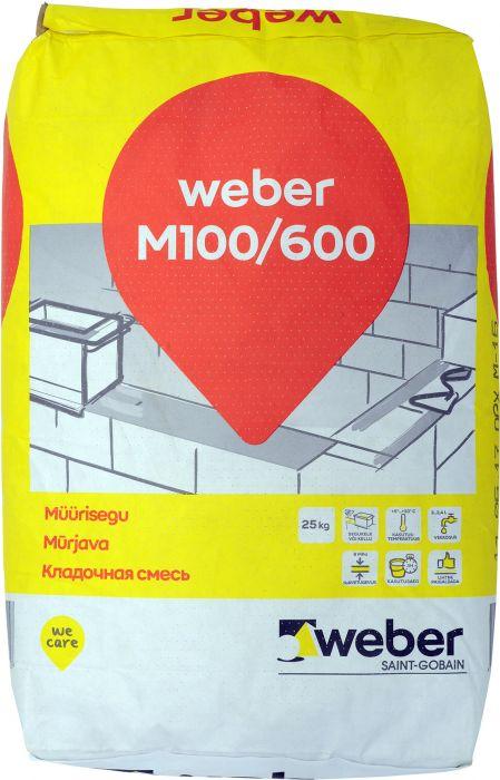 3 kotti müürisegu Weber M 100/600 25 kg