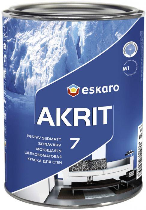 Lae- ja seinavärv Eskaro Akrit 7 0,9 l