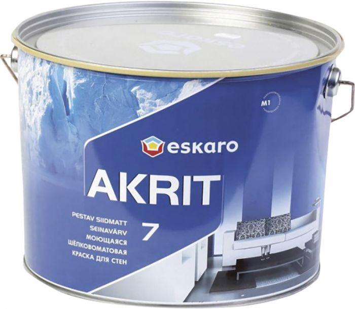 Lae- ja seinavärv Akrit 7, värvitu 9 l