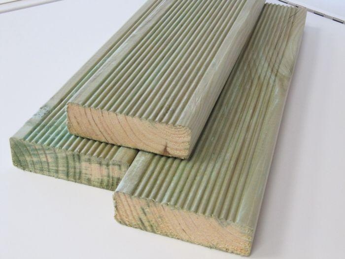 Terrassilaud PHL, immutatud roheline 28 x 95 x 3000 mm