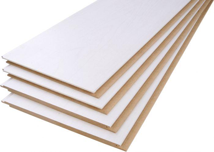 Lae- ja seinapaneel Maler MDF valge kask 8 x 185 x 2070 mm