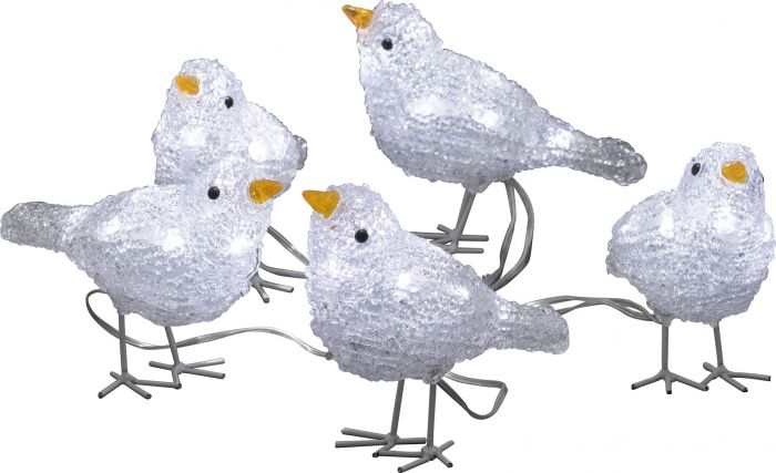 Akrüülfiguur Konstsmide Linnuparv 5-osaline