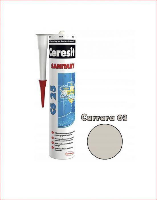 Sanitaarsilikoon Ceresit CS25 280 ml, Carrara 03