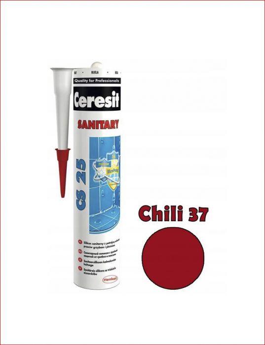 Sanitaarsilikoon Ceresit CS25 280 ml, Chili 37