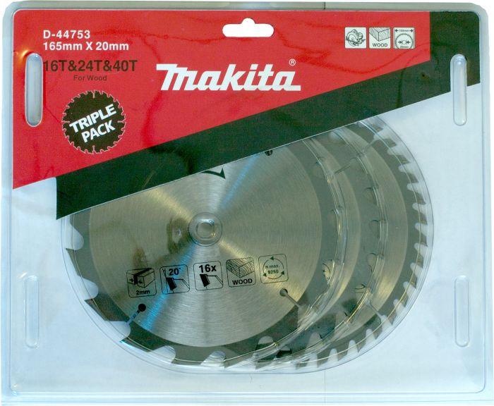 Saeketaste komplekt Makita 165 x 20 mm