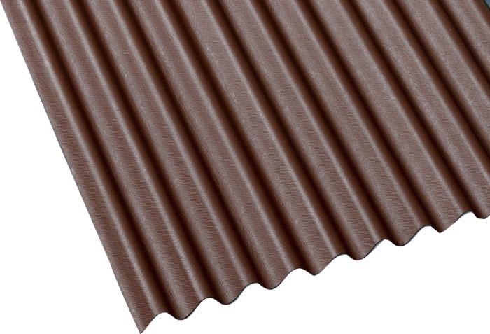 Bituumenlaineplaat Guttanit NC K-11, pruun 3 x 830 x 2000 mm