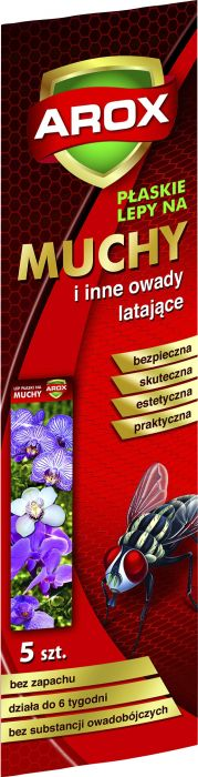 Kärbsepaber Arox lillemustriga 5 tk/pakis
