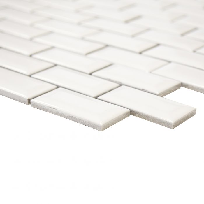 Mosaiik Brick Bond Diamond 30 x 30 cm Valge