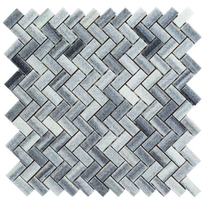 Kivimosaiik hall/antratsiit kalasaba 30,5 x 30,5 cm