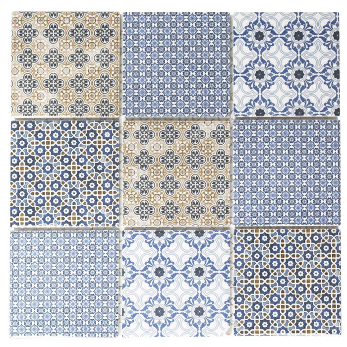 Mosaiik Square Classico Mix 30 x 30 cm