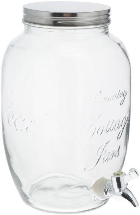 Kraaniga klaaspurk 5 l