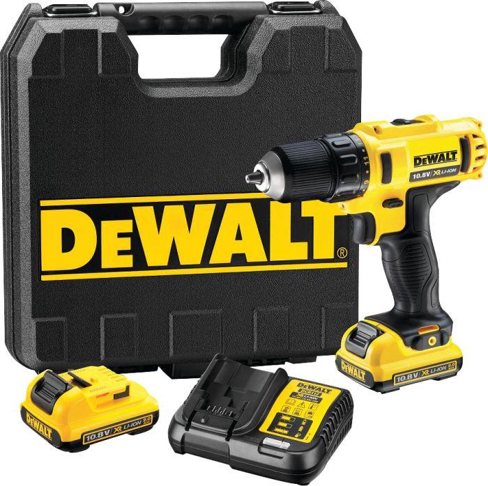 Akutrell DeWalt DCD710D2-QW, 10,8 V + 2 x 2,0 Ah