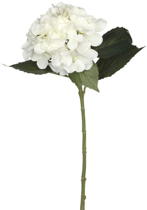 Kunstlill hortensia 51 cm, valge