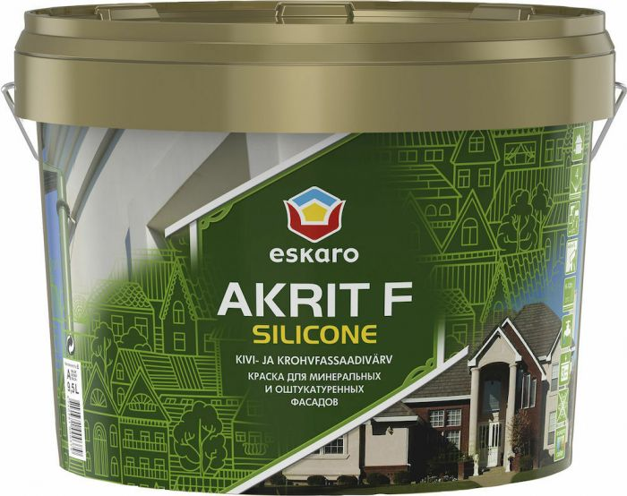 Fassaadivärv Eskaro Akrit F Silicone 9 l