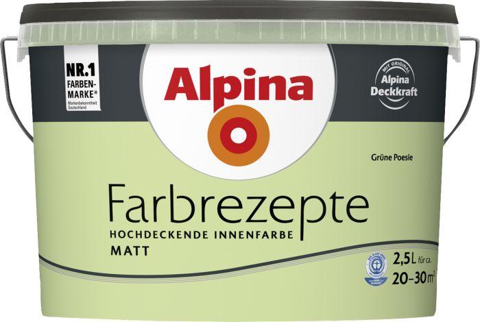 Sisevärv Alpina Farbrezepte Grüne Poesie 2,5 l