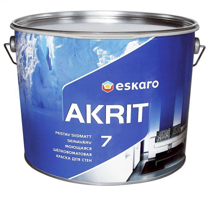 Lae- ja seinavärv Eskaro Akrit 7 4,5 l