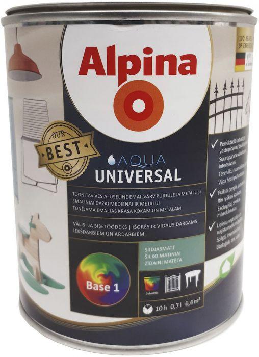Vesialuseline emailvärv Alpina Aqua Universal siidmatt 0,7 l