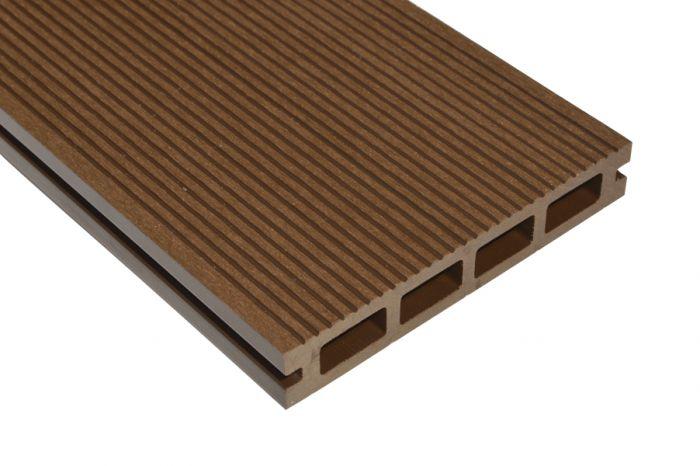 Terrassilaud WPC 25 x 140 x 2700 mm, pruun harjatud