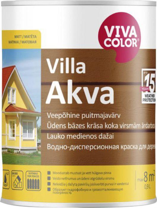 Puitmajavärv Villa Akva 0,9 l, värvitu