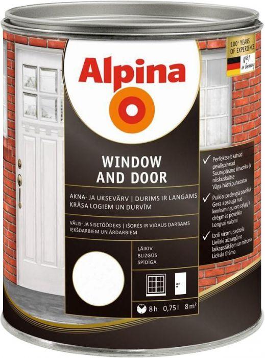 Akna- ja uksevärv Alpina Window and Door 0,75 l