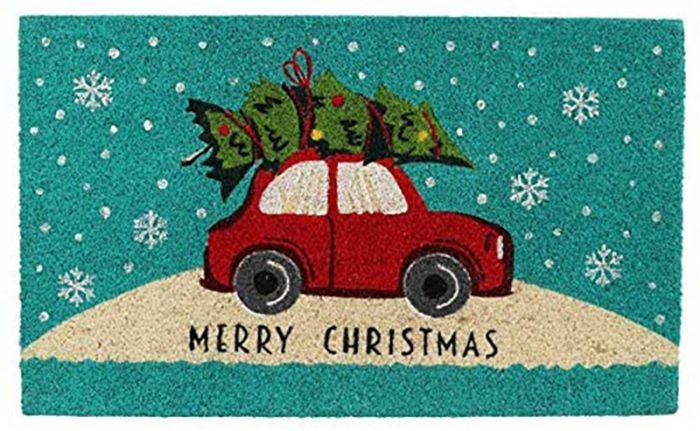 Porimatt Red Car Merry Christmas 75 x 45 cm
