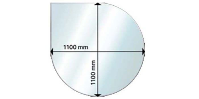 Kaminaesine klaas Andres Drop 110 x 110 cm