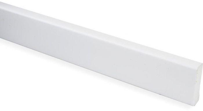 Katteliist PVC valge 5 x 20 x 2700 mm