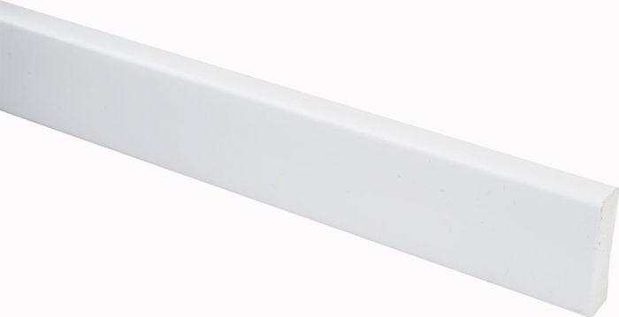 Katteliist PVC valge 10 x 32 x 2200 mm