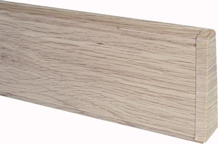 Põrandaliistu ots PVC valge tamm parem 22 x 75 mm