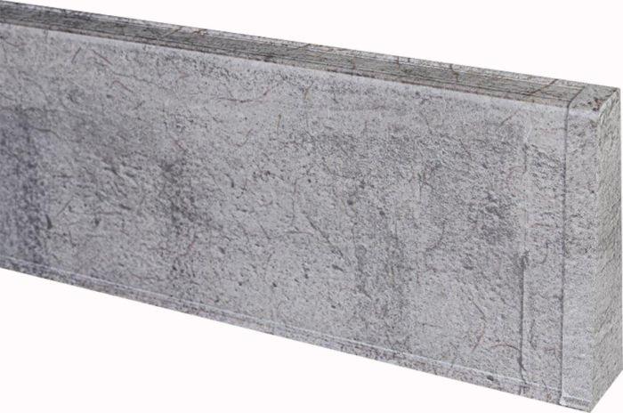 Põrandaliistu ots PVC hall tamm parem 22 x 75 mm
