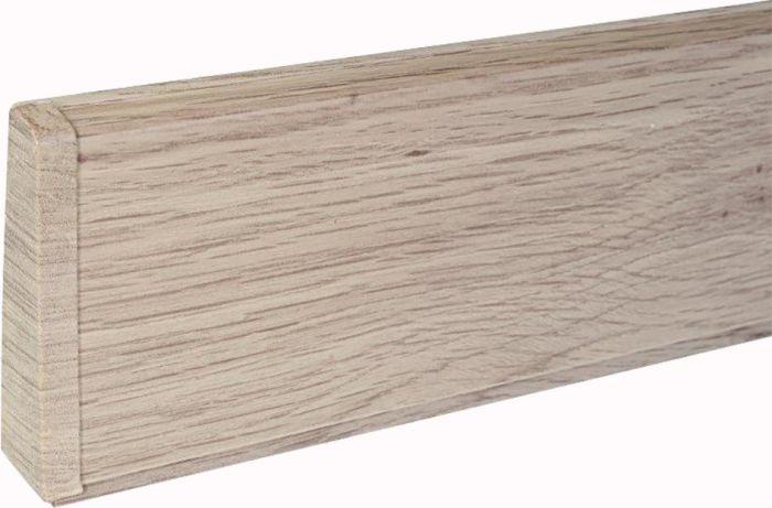 Põrandaliistu ots PVC valge tamm vasak 22 x 75 mm